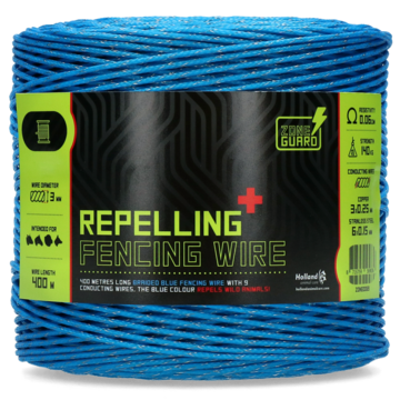 ZoneGuard 3 mm repelling fencing wire blue 400 m
