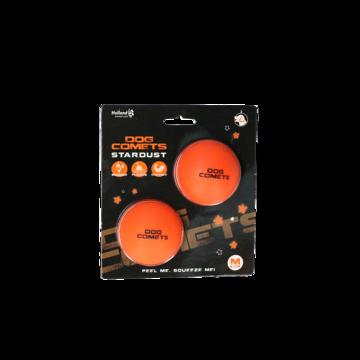 Dog Comets Ball Stardust Orange M 2-pack