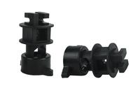 Isolator Schraube für Rundpfähle ø 14mm, für Litze