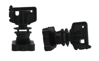 Isolatorschraube für Rundpfähle ø 16mm, Breitband bis zu30mm