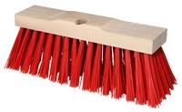 Stadsbezem 35x10,5cm pvc rood