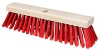 Straßenbesen 41x11,5cm pvc rot