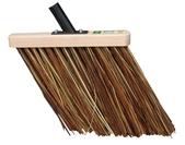 Rice straw broom brown