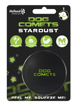 Dog Comets Ball Stardust Black/Green M