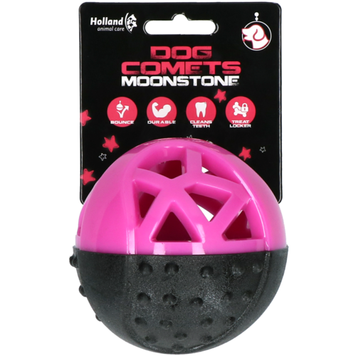 Dog Comets Moonstone Treat ball round pink