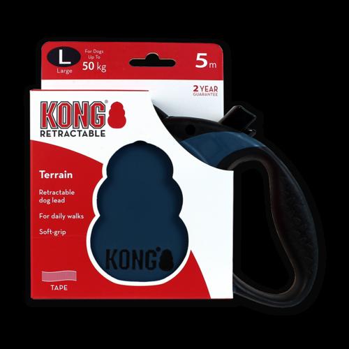 Kong Retractable Leash Terrain Blue L (5m/50kg)