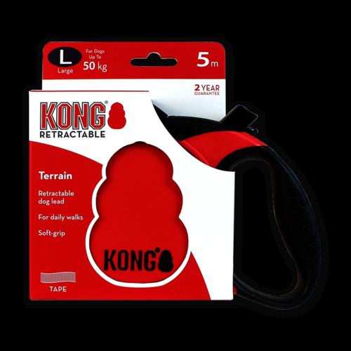 Kong Retractable Leash Terrain Red L (5m/50kg)