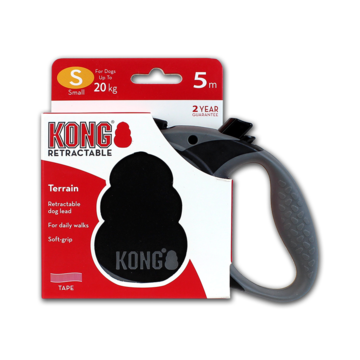 Kong Retractable Leash Terrain Black S (5m/20kg)