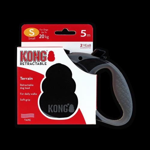 Kong Retractable Leash Terrain Black S (5m/20kg)
