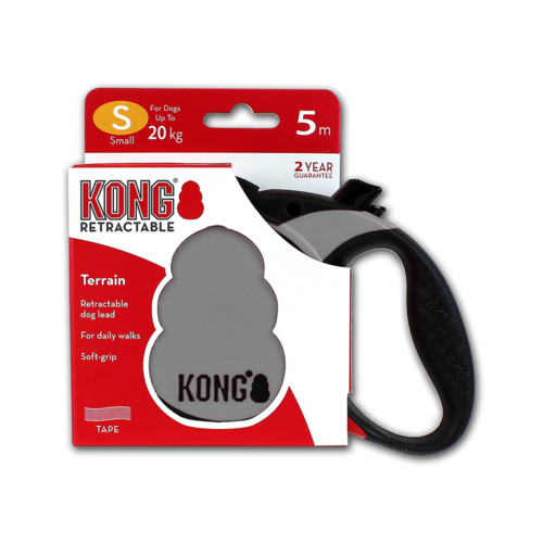 KONG Retractable Leash Terrain Grey S (5m/20kg)