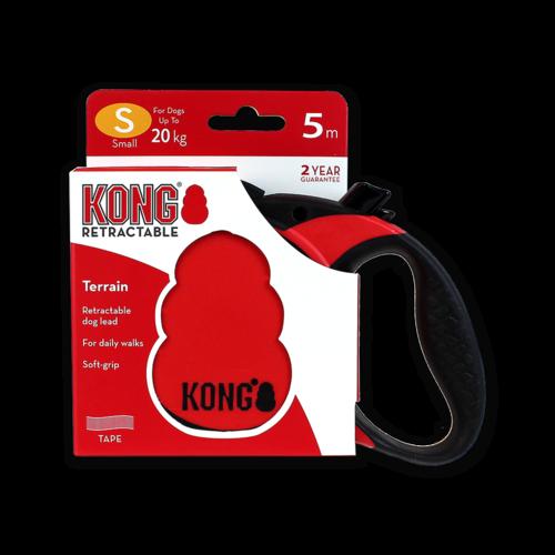 Kong Retractable Leash Terrain Red S (5m/20kg)