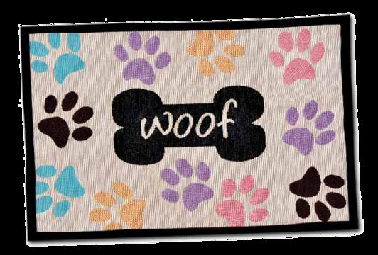 Woof Multi Paws Fashion Mat