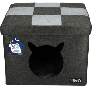 Let's sleep Pet Cube light/dark grey