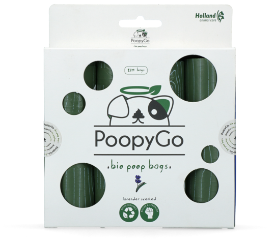 PoopyGo Eco friendly 120 pcs (8x15 bags) Lavender scented