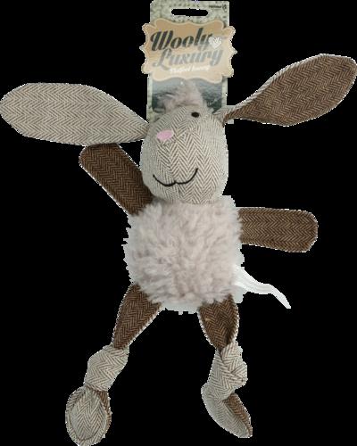 Wooly Luxury Flatfeet Bunny Grey
